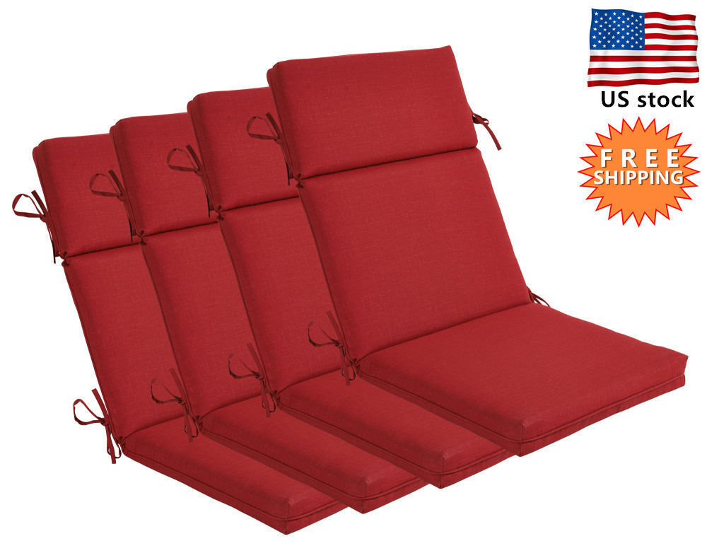 Bossima Outdoor Seat Pad Cushion Patio High Back Dining ...