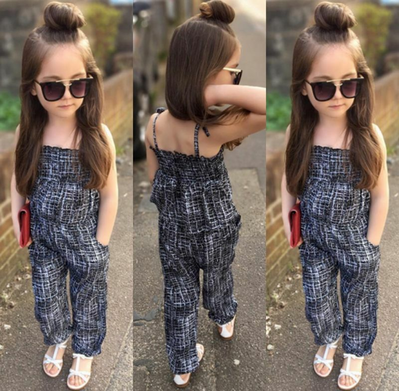 Fashion Kids Toddler Girls Halter Romper Jumper Jumpsuit Playsuit Summer Clothes Ebay