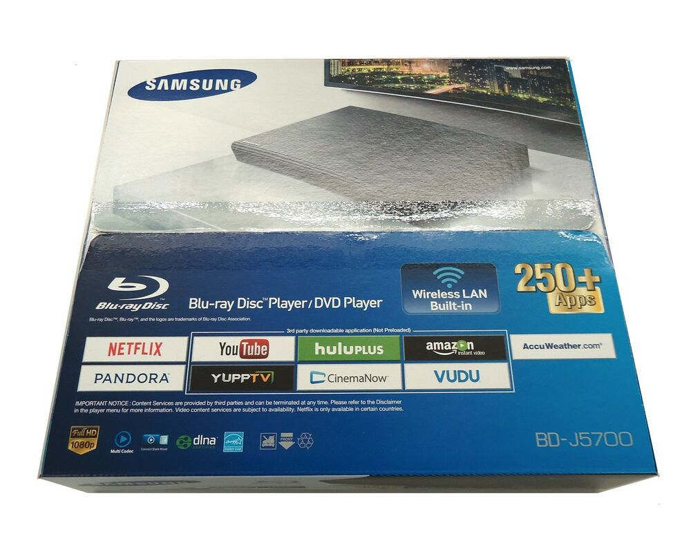 Samsung Smart Blu Ray DVD Player with Built-In Wi-Fi & 250+ Apps ...