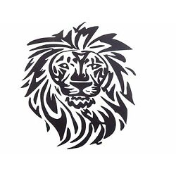 vinyl lion 7.35 x 11  in decal for your car,home 12 colors available
