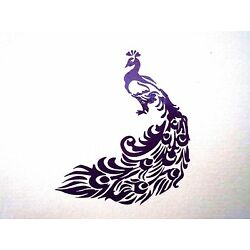 vinyl peacock 7 X 8 in decal for your car,home 14 colors available