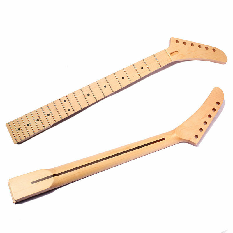 banana electric guitar neck dot inlay 22 fret maple for st parts replacement ebay. Black Bedroom Furniture Sets. Home Design Ideas