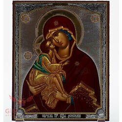 Wooden Icon of Our Lady of the Don Икона Божией Матери Донская 5.1 x 6.2''