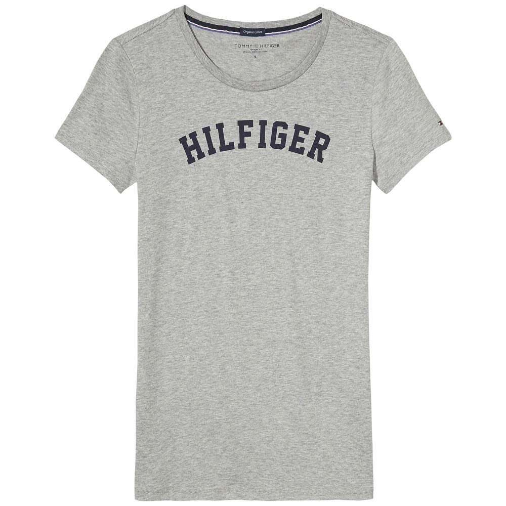 1d5c137fd Details about Tommy Hilfiger Women Organic Cotton Short Sleeved Crew Neck T-Shirt  Heather Grey
