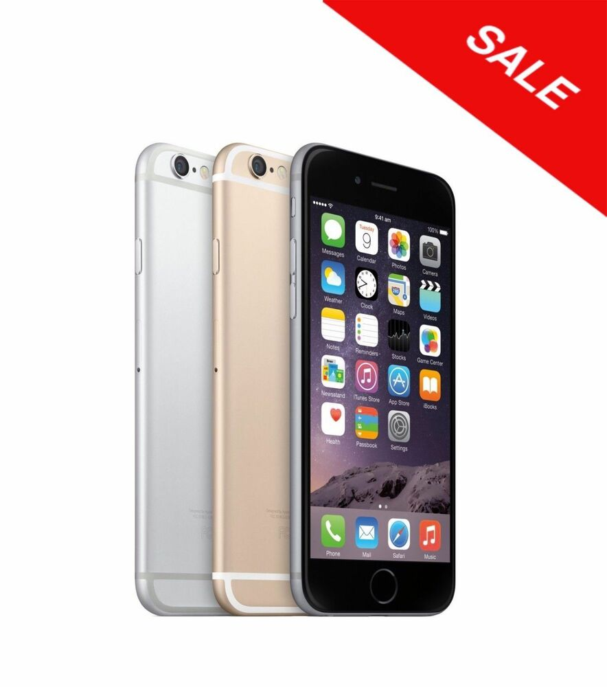 Unlocked Apple iPhone 6 16GB 64GB 128GB Gray Gold ATT Tmobile Without FingrPrnt | eBay