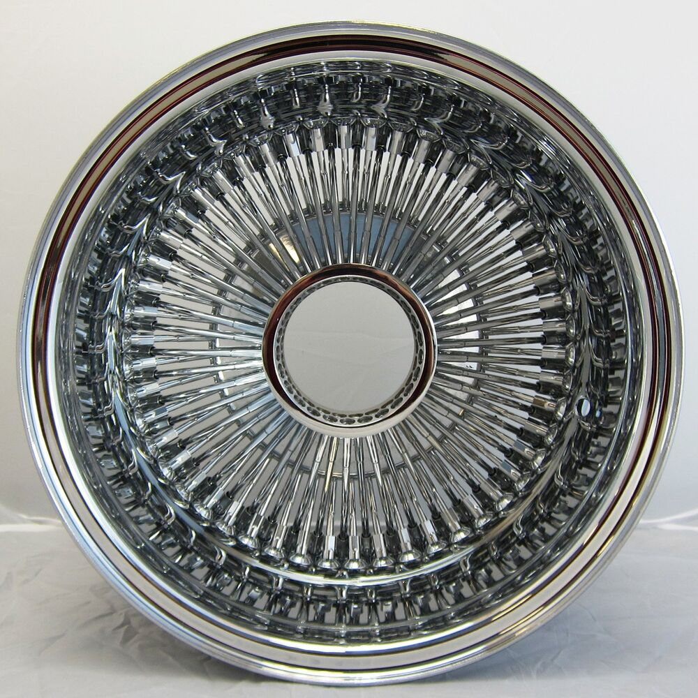 NB 13x7 REV 100 SPOKE WIRE WHEELS STRAIGHT LACE ALL CHROME RIMS ...