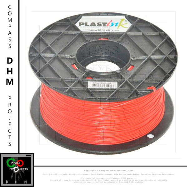 Filamento ABS Plastink ROSSO 1.75 mm 1kg consumabile stampa 3D RED