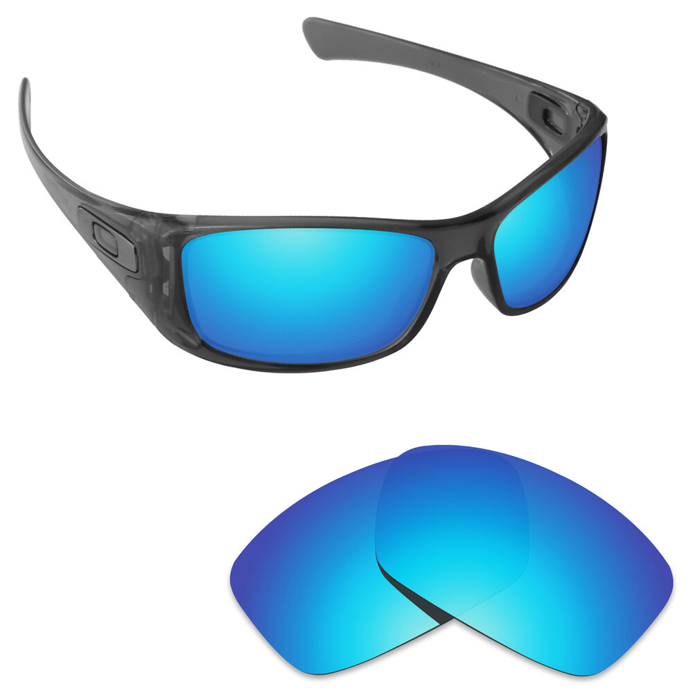b6c1e9ce58 Details about Hawkry Polarized Replacement Lenses for-Oakley Hijinx  Sunglass Ice Blue Mirror