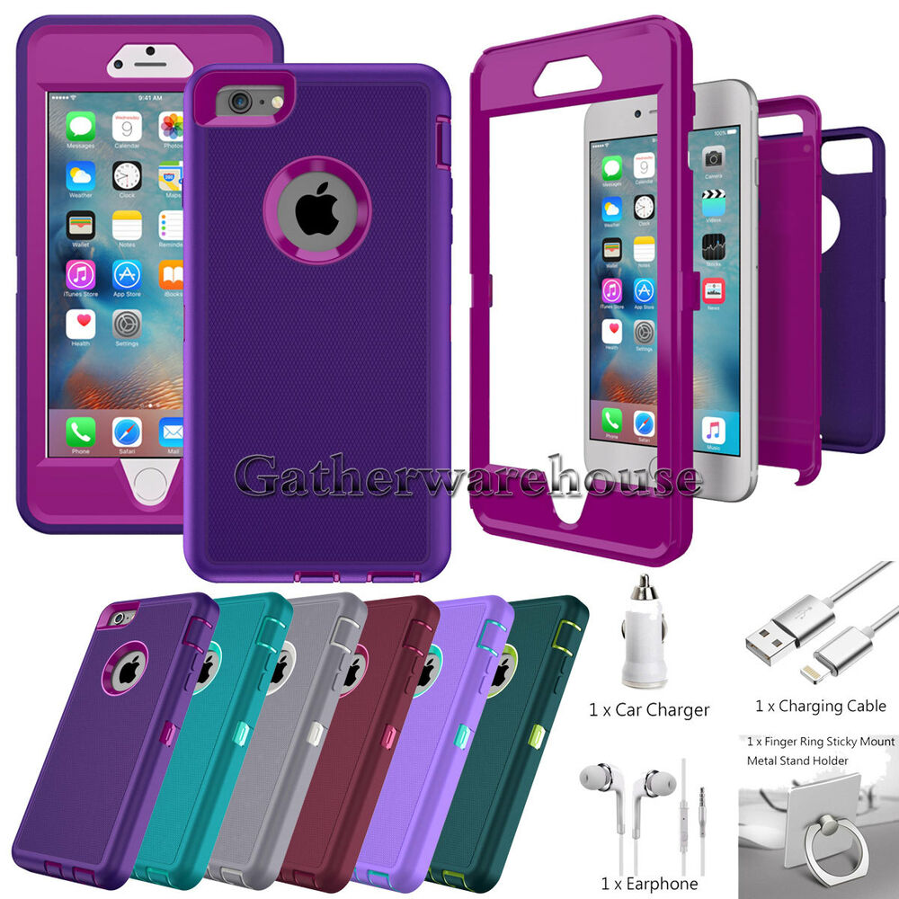 iphone 6 phone covers protective hybrid shockproof cover for apple 3077
