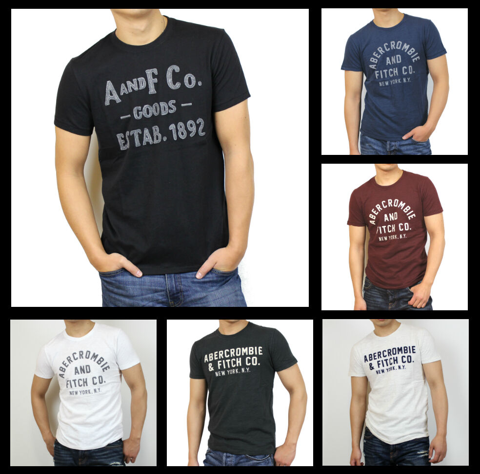 New abercrombie fitch a f by hollister men applique for Abercrombie and fitch tee shirts