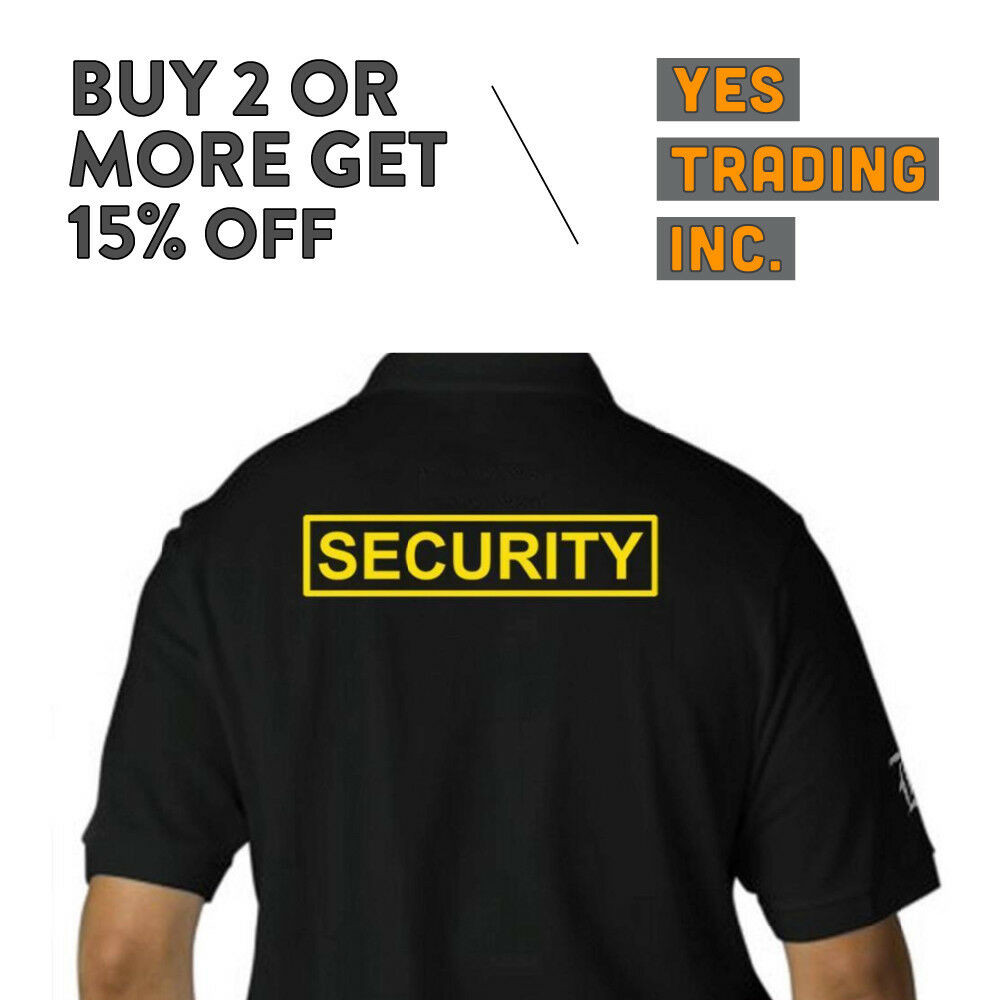 Mens Security Polo Shirt Law Enforment Police Shirts Safety Work