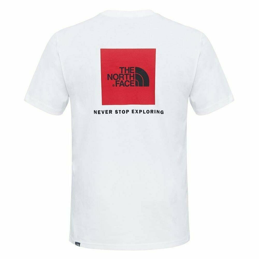 08c3c197760 Details about The north face s s red box tee tnf white T-SHIRT NEW S M L XL  TREKKING MOUNTAIN