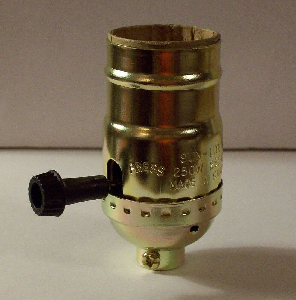 Brass Plated On Off Turn Knob Lamp Socket Lamp Part New