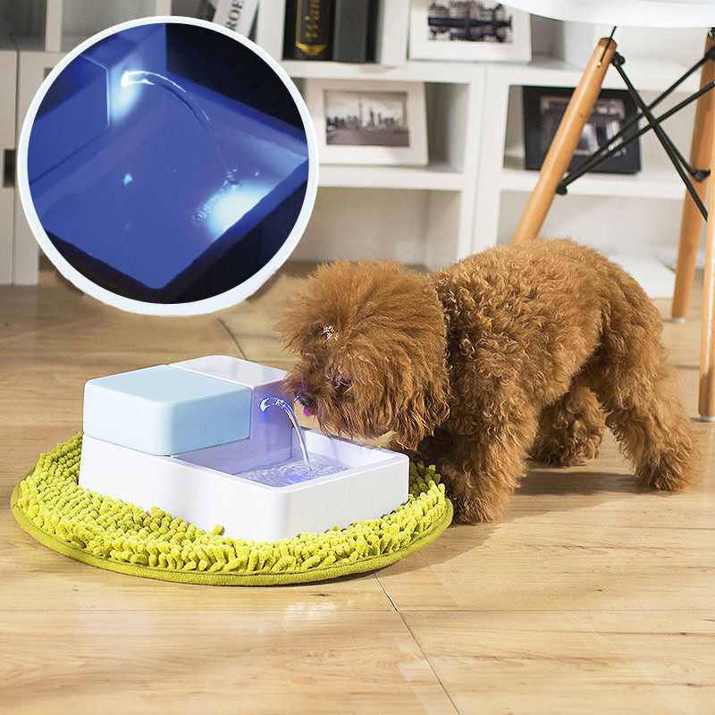 Led Uv Automatic Pet Water Drinking Filter Fountain Bowl
