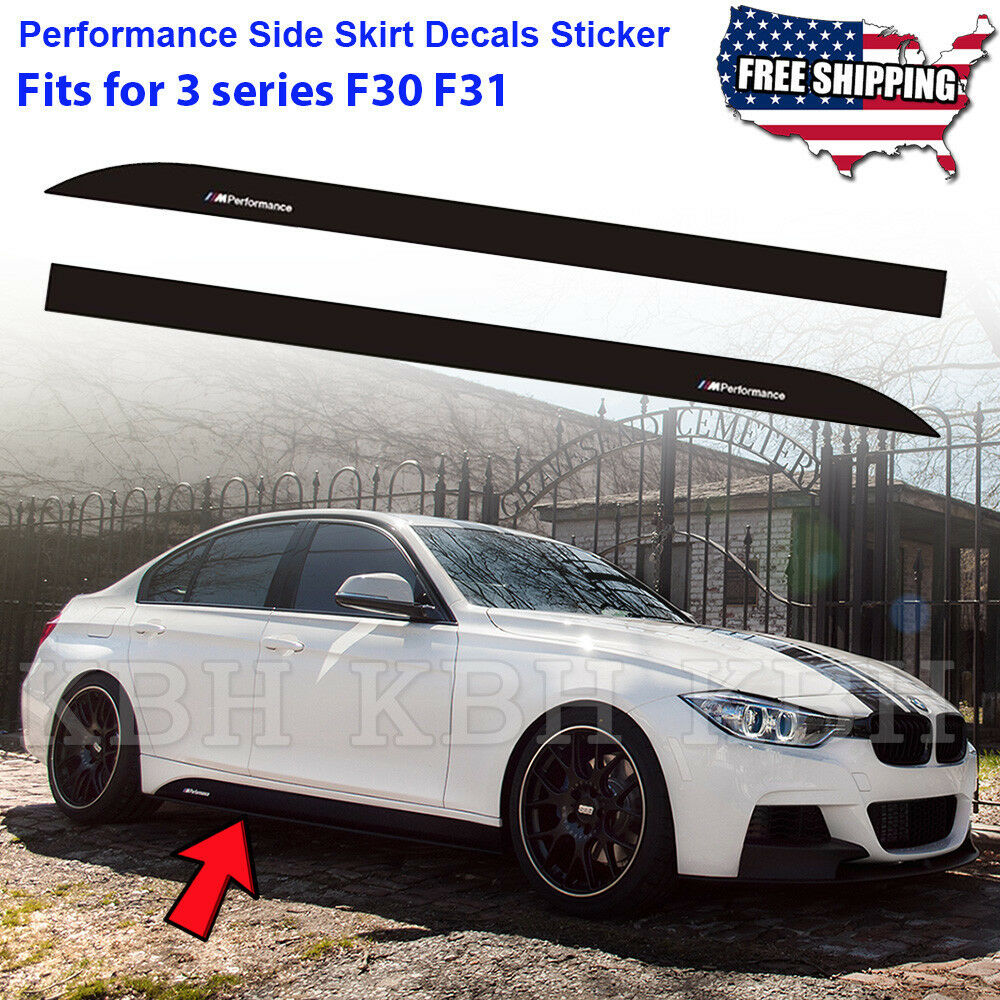 M performance side skirt sill decal stripe sticker for bmw 3 series f30 f31 e90