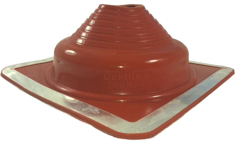 Dektite Pipe Flashing Red High Temp Silicone Pipe Boot