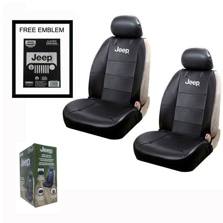 New JEEP Elite Synthetic Leather Car Truck 2 Front Seat