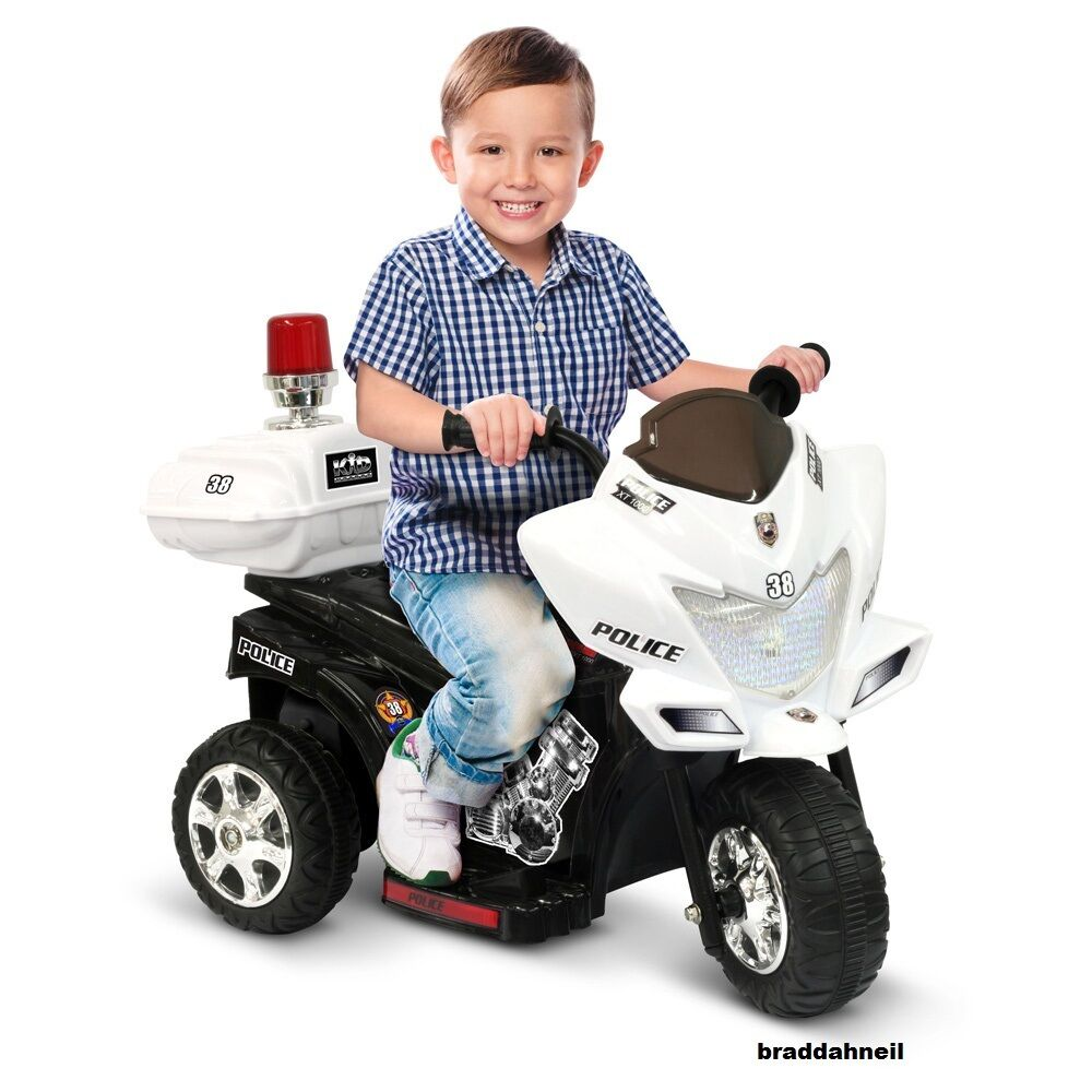 Electric Riding Toys For Boys 5 And Up : Ride on toy police bike kids electric cars toddler