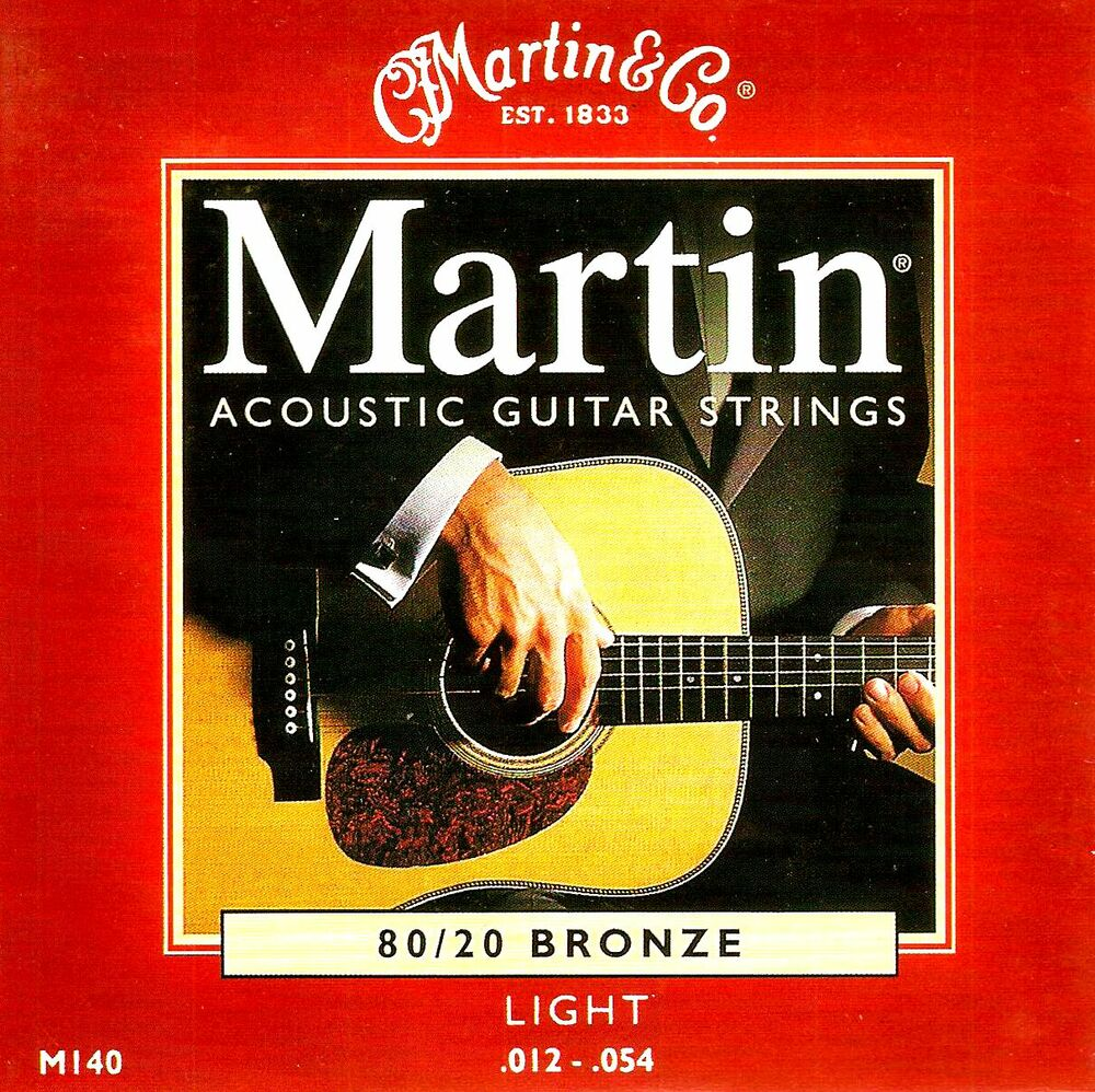 martin 80 20 bronze acoustic guitar strings light gauge 12 54 m140 ebay. Black Bedroom Furniture Sets. Home Design Ideas