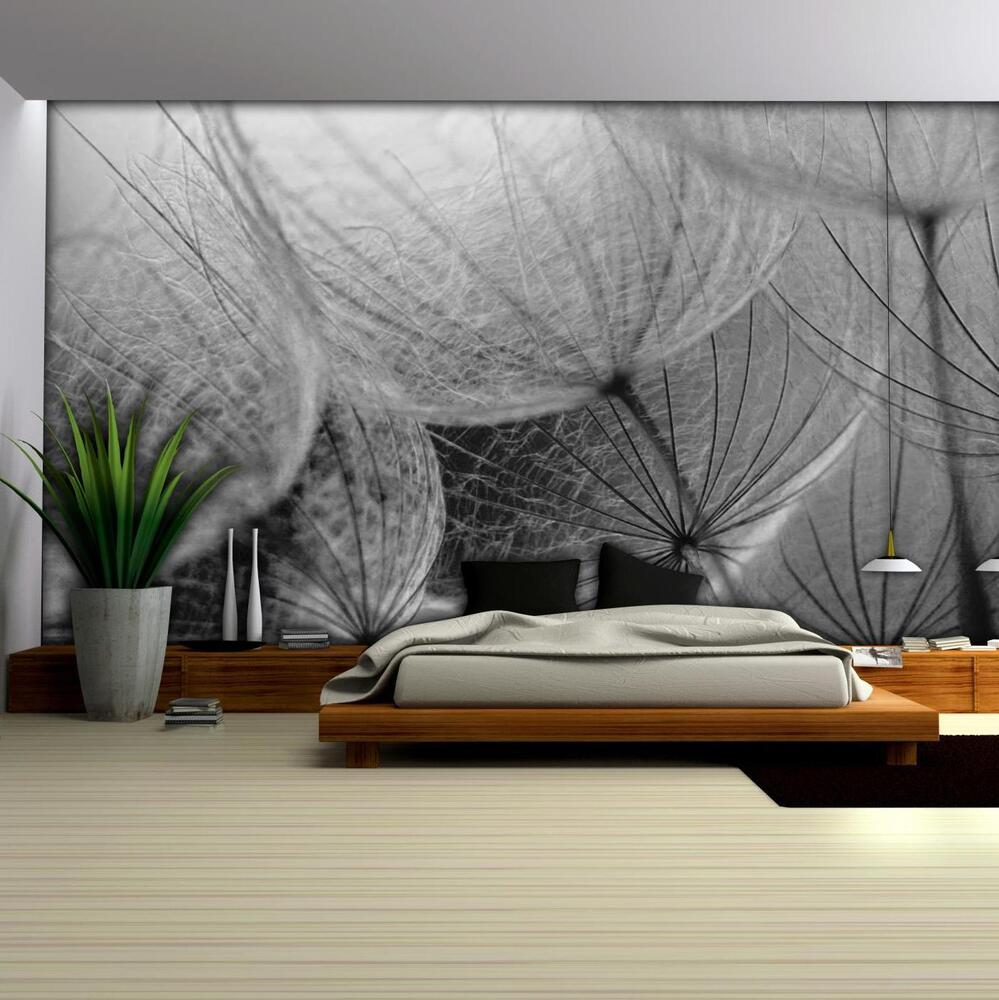 vlies fototapete fototapeten tapete tapeten gris pusteblume natur 14n281vexxl ebay. Black Bedroom Furniture Sets. Home Design Ideas