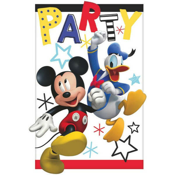 Mickey On The Go Invitation Cards Envelop Boys Birthday Party