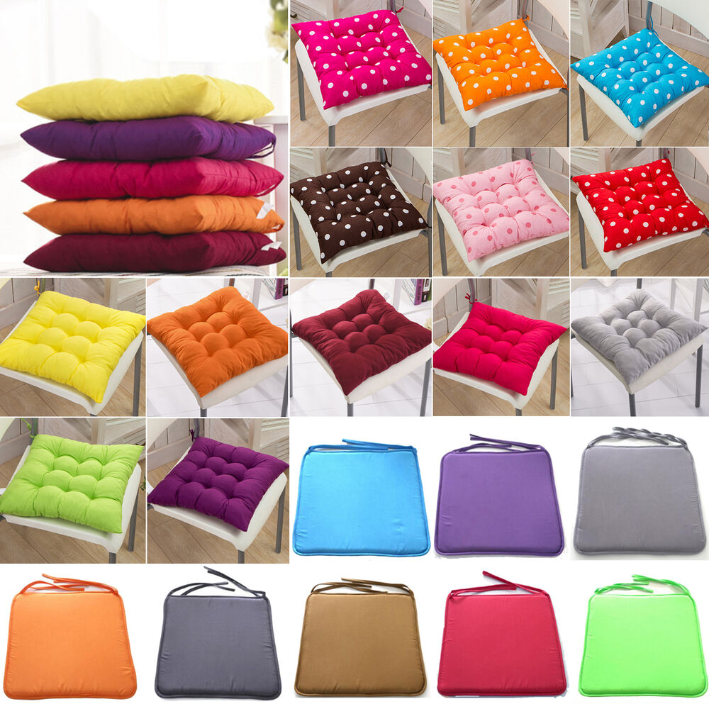 Chair cushion seat pads outdoor tie on garden patio for Home decorations on ebay