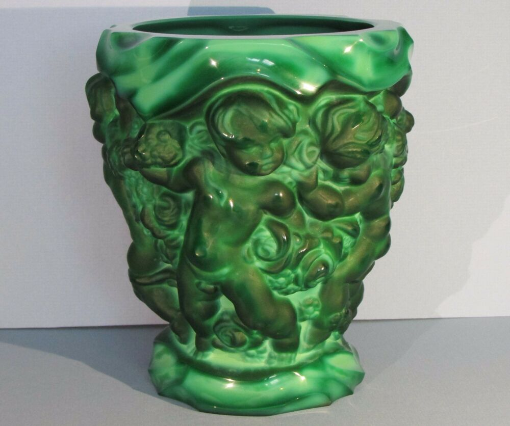 Malachite vase ebay xl desna malachite glass vase schlevogt hoffman art nouveau czech bohemia green reviewsmspy
