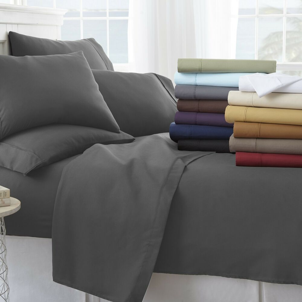 Home Collection Ultra Soft Cozy 6 Piece Bed Sheet Set All
