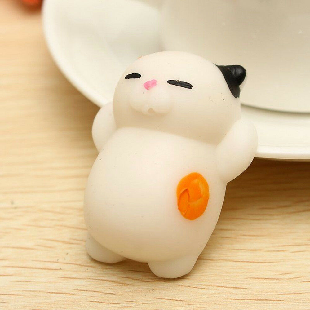 Squishy Cat Stress Relief : Cute Mochi Lazy Cat Squishy Squeeze Healing Stress Reliever Funny Kid Toy Decor eBay