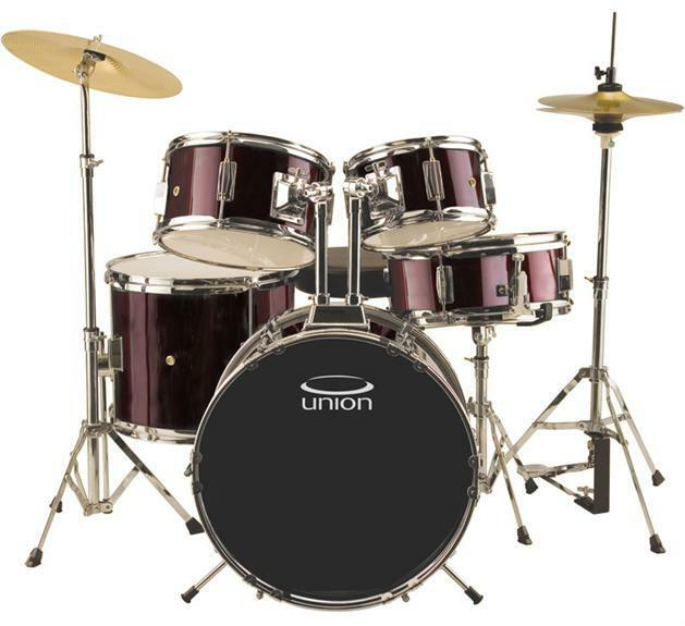 Union Junior Drum Set Uj5 5 Piece With Hardware Cymbals