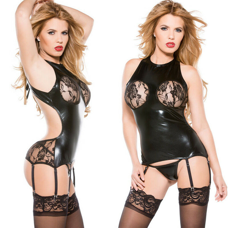 b2a543cafd Details about SEXY-Lingerie-Sleepwear-Lace-Women s-Dress-Chemise-Underwear- Babydoll-Nightwear