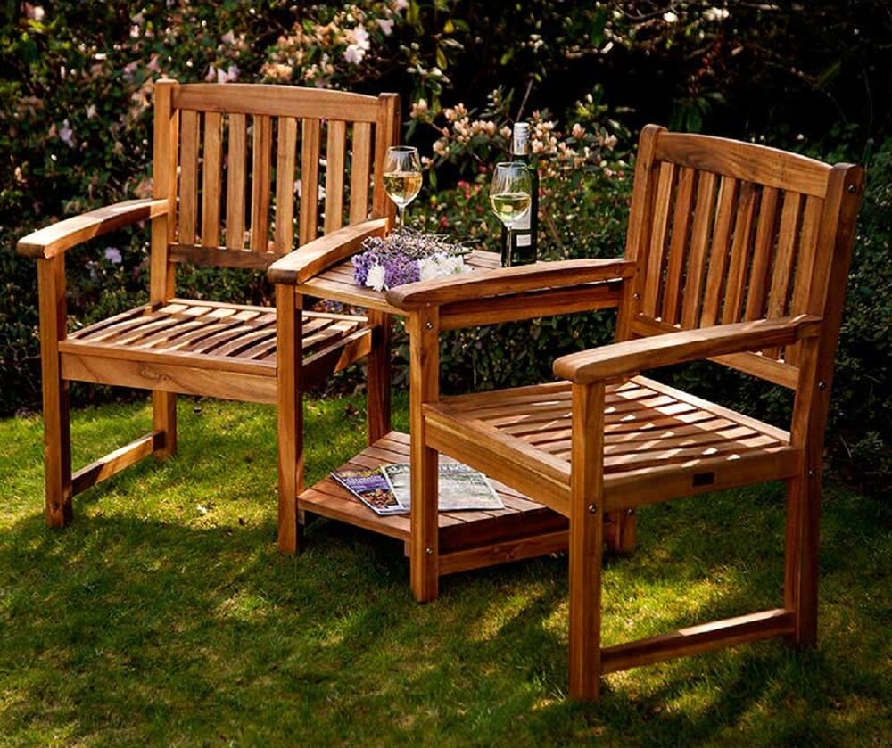 Companion Set Love Seats Garden Corner Bench 2 Chair Outdoor Patio Furniture Ebay