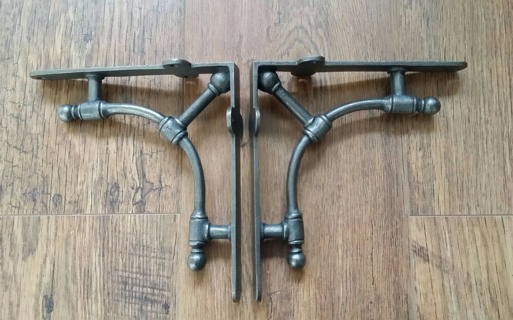 Steampunk 2 X Solid Gas Pipe Style Industrial Metal Shelf