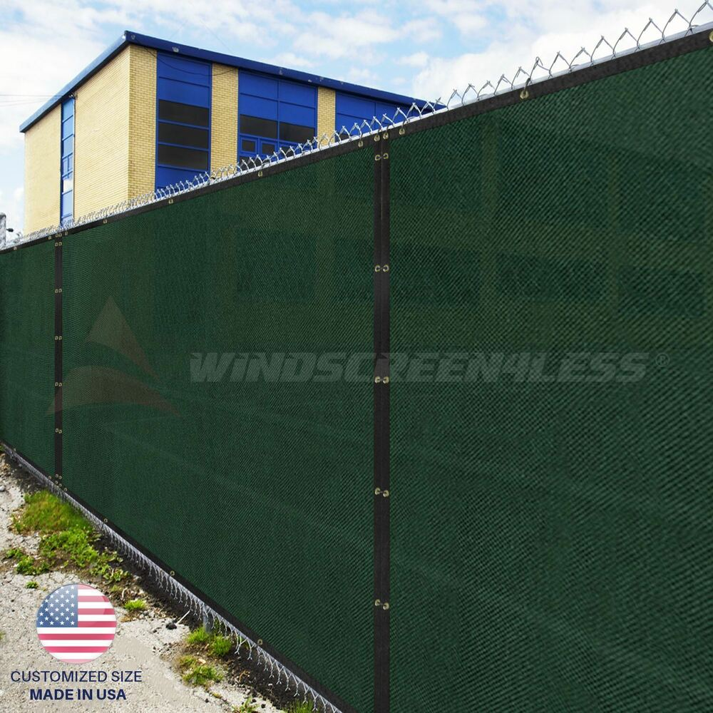 Privacy screen for chain link fence ebay - Customize 5 Ft Privacy Screen Fence Green Commercial Windscreen Shade Cover1 160 Ebay