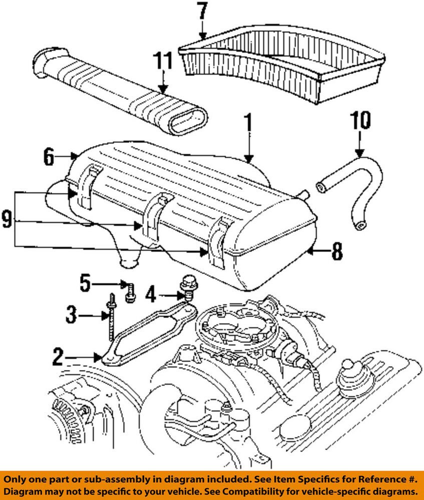 details about dodge chrysler oem 97-02 ram 3500 air cleaner intake-box  housing body 4897529aa