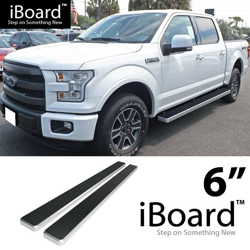 "IBoard Running Board 6"" Fit Ford F150 SuperCrew Cab / 2018"