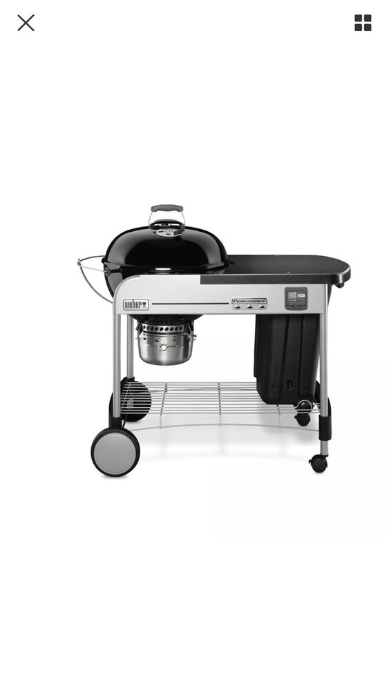 weber 15401001 performer premium charcoal grill 22 inch black ebay. Black Bedroom Furniture Sets. Home Design Ideas