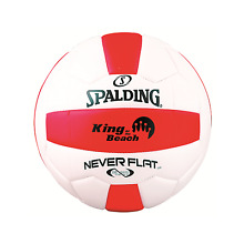 King of the Beach Volleyball Spalding Soft Touch Cover Never Flat Official Size