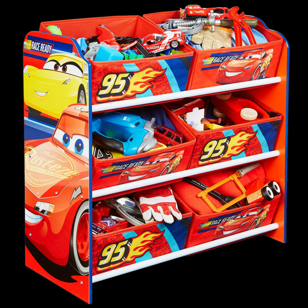 disney cars kinderregal regal aufbewahrung kiste kinder kinderm bel auto m bel ebay. Black Bedroom Furniture Sets. Home Design Ideas