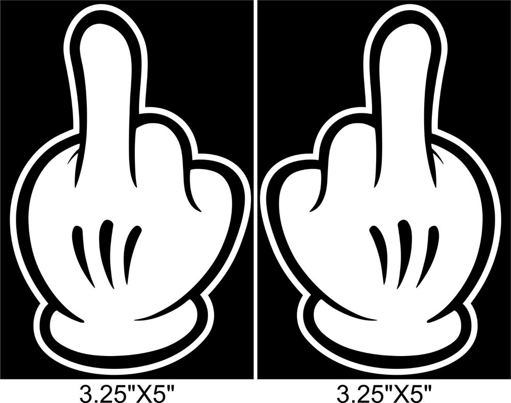 Disney Mickey Mouse MIDDLE FINGER sticker dope Signs ...