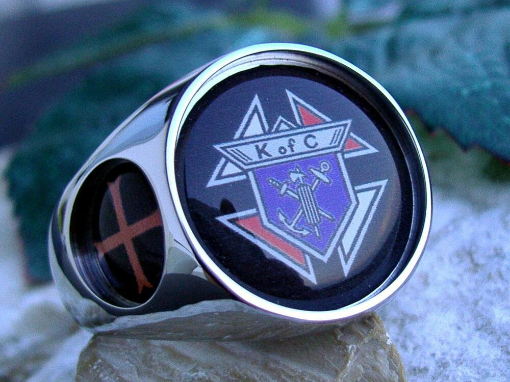 Knights Of Columbus Ring 3rd Degree Ring Steel Silver Pin