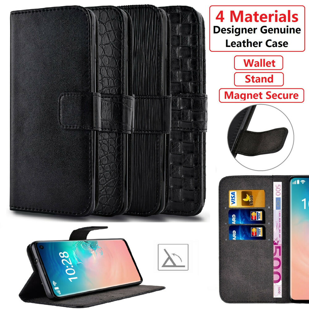 luxury leather s view wallet flip case cover for samsung. Black Bedroom Furniture Sets. Home Design Ideas