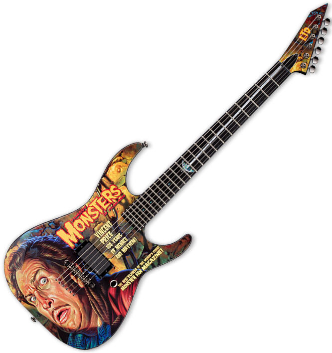 esp ltd famous monster vincent price electric guitar brand new ebay. Black Bedroom Furniture Sets. Home Design Ideas
