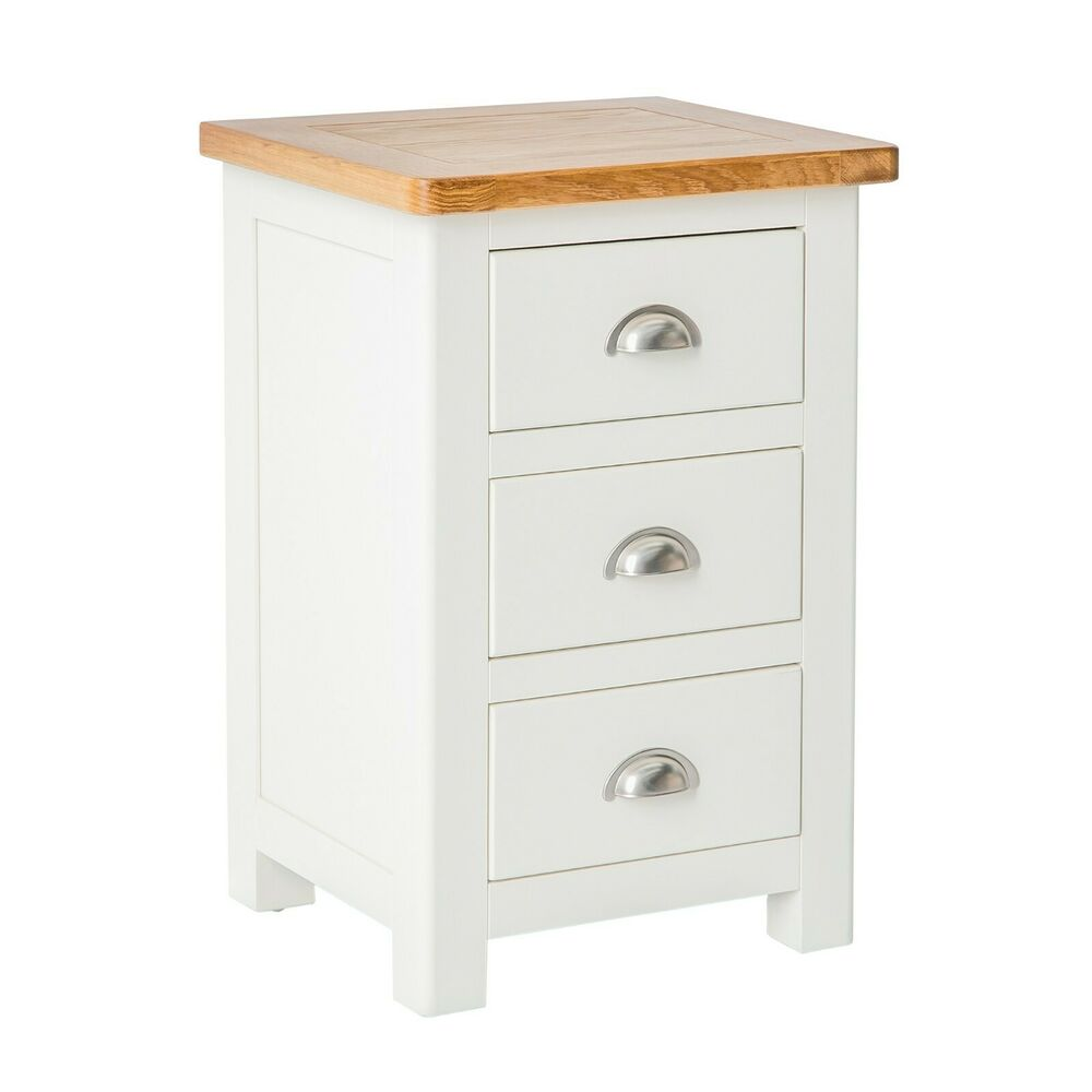Padstow White Painted Bedside Table Solid Wood Bedside