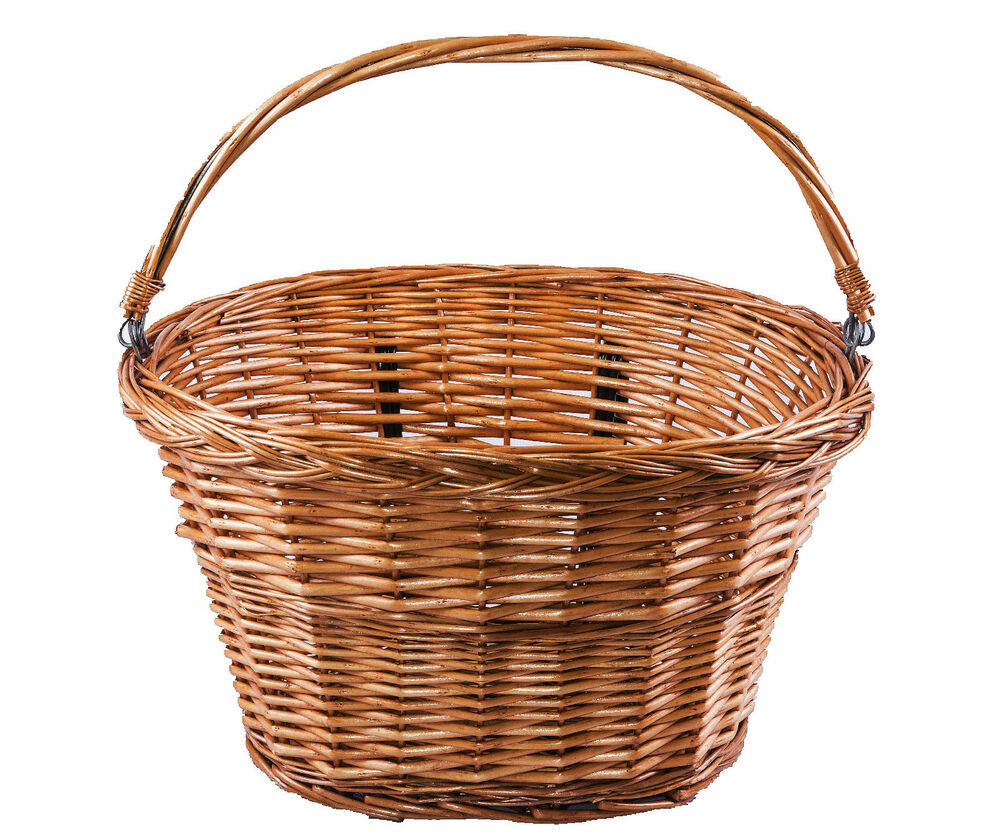 Wicker Bicycle Basket With Handle : Honey oval bike bicycle wicker basket with carry handle