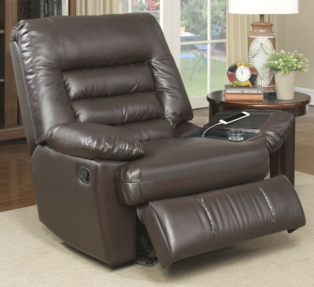 black leather oversized chair serta big tall memory foam massage recliner ebay 11220 | s l1000