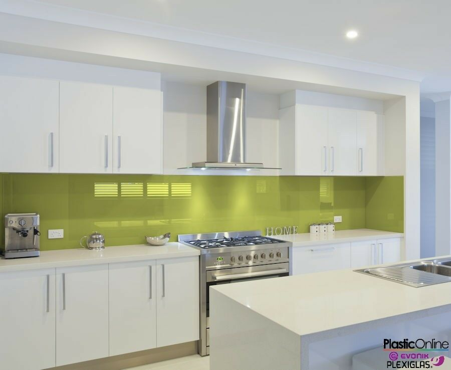 Pistachio Green Plastic Perspex Acrylic Kitchen Bathroom