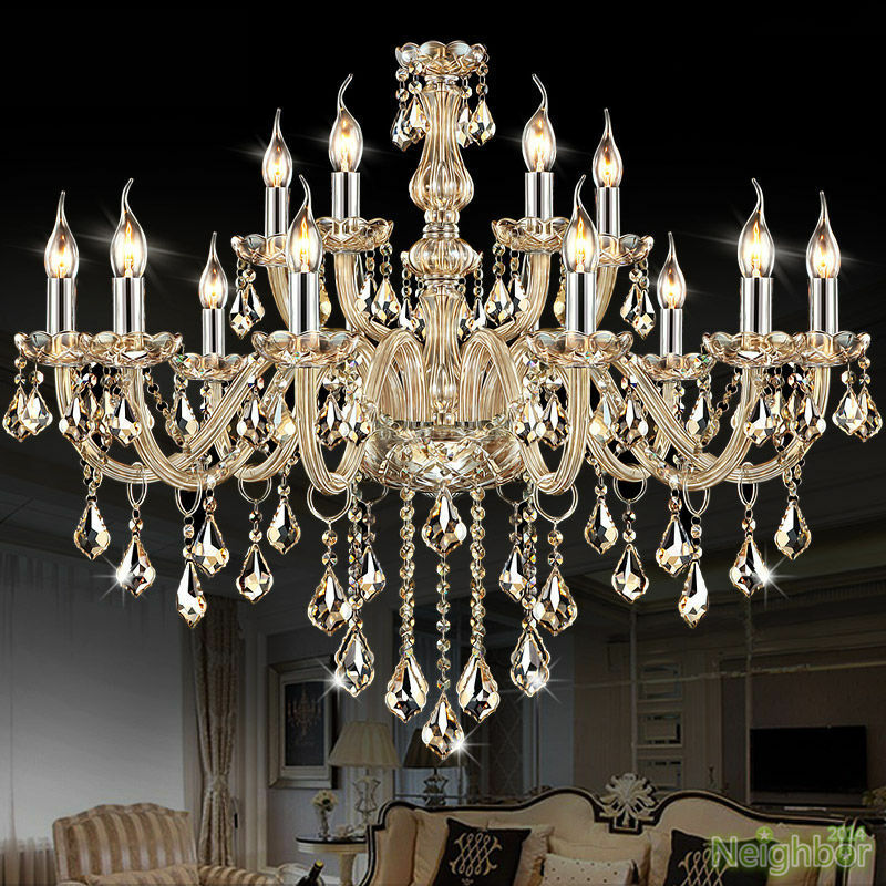 Modern Crystal Big Chandeliers Led Pendant Lamp Ceiling