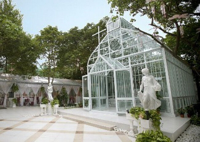 pavillon aus massivem stahl gartenhaus kirche orangerie hochzeitskulisse ebay. Black Bedroom Furniture Sets. Home Design Ideas