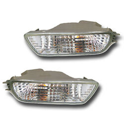 Kyпить Fits 01-04 Toyota Tacoma Driver + Passenger Bumper Turn Signal Light Lamp 1 Pair на еВаy.соm